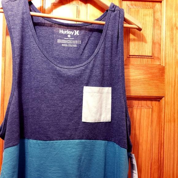 012e0eda Hurley Shirts | Mens Colorblock 20 Tank Top Xl Gray Teal | Poshmark